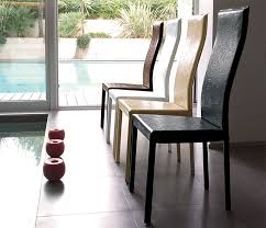 modern unico onda real leather dining chair choice of colour thumbnail
