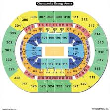Seating Chart Chesapeake Energy Arena Amazing In Addition To Lovely Okc Thunder Seating Chart