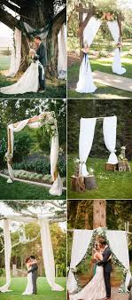 elegant and romantic rustic country wedding arbor altar and arch ideas