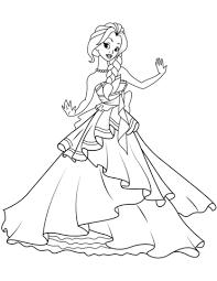 Disegno Di Principessa Danzante Da Colorare Disegni Da Colorare E