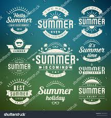 typography templates summer holidays design elements typography design stock vector