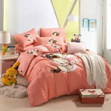 cute kitten orange cartoon bedding kids bedding girls bedding teen bedding