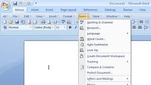 Word Ribbon Show Classic Menus And Toolbars On Ribbon Of Microsoft Word 2007