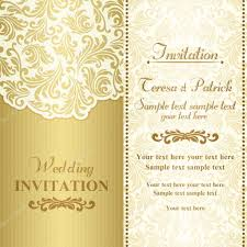 Baroque Wedding Invitations Baroque Wedding Invitation Gold And Beige Stock Vector D Naya