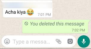 Image result for whatsapp message delete options