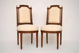 Side Chairs For Bedroom Pair Of Antique Walnut Upholstered Side Chairs Church Street