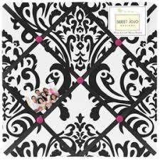 Sweet Jojo Designs Isabella Hot Pink Black White Decorative Throw