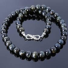 mens healing reiki gemstone necklace