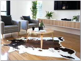 cow rug cowhide pad home design ideas interior ikea hide white decor minimalist cow skin rug