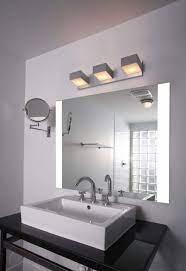 Large Bathroom Vanity Mirror With Led Lighted Edges Impeccable Seri Impact Vanity