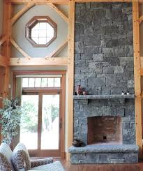 cozy rustic fireplace design corinthian granite squared and rectangular thin veneer the hearth
