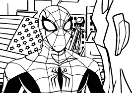 Small Picture Coloring Pages Avengers Spiderman Coloring Page Wecoloringpage