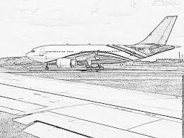 Coloriage Avions Aeroport Charles De Gaulle Roissy Imprimer Pour