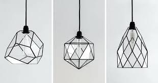 handmade lighting fixtures. Modern Black Light Fixtures These Geometric Glass Pendant  Lights Are Unique And Handmade Home Lighting T