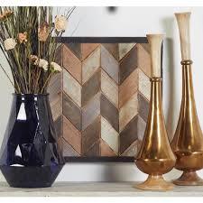 chevron patterned tiles framed wooden