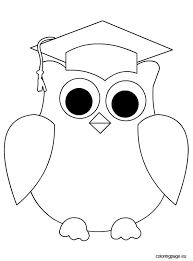 Kindergarten Graduation Coloring Pages Owl Graduation Coloring Page Education Graduation Preschool