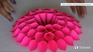 diy room decor with amazing dahlia flower diy crafts home decor within paper craft ideas for decoration s
