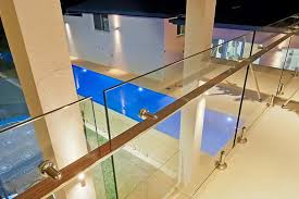 stair glass barade first level frameless glass barade fencing