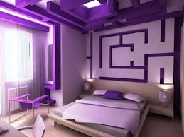 Modern Interior Design Bedroom Purple Ideas With Nice Wall Maze On Impressive
