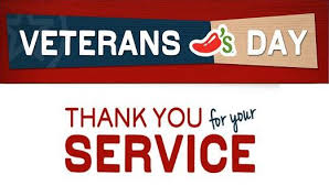 applebees subway chilis veterans day 2016 menu s free meals offers