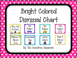 How We Get Home Chart Dismissal Chart Bright Colored