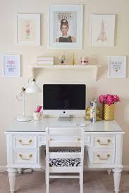 white desk office. Chalk Paint White Desk Chic Inspirational Office