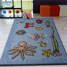 4 x 6 ft boy s aquarium blue bedroom kids area rug with sean square blue