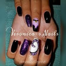 nailedbyvee purple black glitter Ursula Disney Little Mermaid sea ...