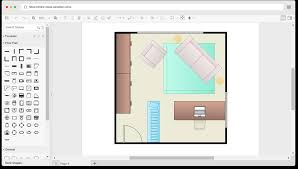 Home office floor plan Rectangle Home Office Floorplan Template Square Home Office drawn With The Online Floor Plan Software Casuallysmartcom Free Home Office Floor Plan Template