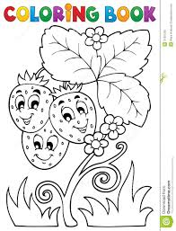 coloring book themes coloring book fruit theme 4 royalty free stock photo image 31801235