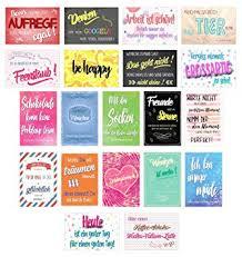 Edition Seidel Set 20 Postkarten Mit Sprüchen Karten Mit Spruch