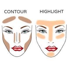 makeup contour and highlight image