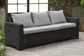 image is loading allibert california graphite grey 3 seater sofa in