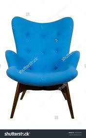 Stylish And Peaceful Blue Chair Modern Blue Chair Scandinavian Style Stock  Photo 106378355