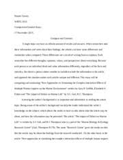 cause effects naomi carson wrtg s cause effect essay  5 pages compare contrast essay naomi carson