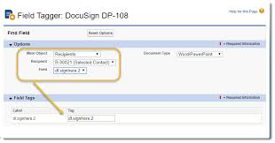 Tag Templates For Docusign