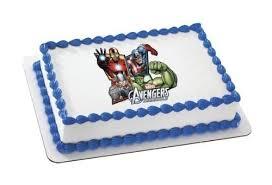 superhero sheet cake avengers assemble marvel superheroes edible image frosting sheet