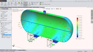 Solidworks Simulation Pressure Vessel Design Solidworks Simulation Tutorial Analyze Tank Pressure In Solidworks