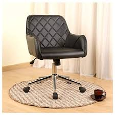 stylish office desk. Veigar Stylish Office Chair PU Leather Mid Back Executive Home  With Adjustable Height, Stylish Office Desk