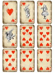 Printable Playing Card Kitty Playing Cards Printable Alice In Wonderland Play
