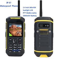popular lcd cell phone buy cheap lcd cell phone lots from ip67 rugged waterproof shockproof phone walkie talkie radio ptt x6 sunlight lcd gsm senior old man