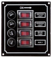 bass pro shops rocker switch panels thrill on bass pro shops four and six gang rocker switch panels black aluminum housing