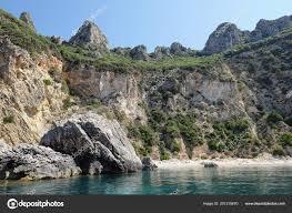 Paradise Beach Liapades Corfu Island Greece Sedimentary Rock Cliff Chalk ⬇  Stock Photo, Image by © lcrms7 #207315670