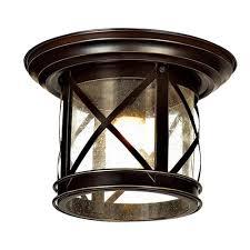 Home Depot Outdoor Ceiling Lights Y Decor Elli Sandy Black 1 Light Outdoor Flushmount El5041fm