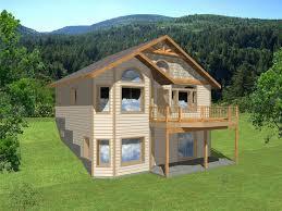 hillside house plan rear 012h 0012