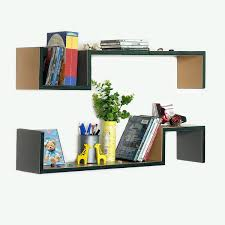 trista urban fashion s shaped leather wall shelf bookshelf floating shelf set of 2