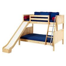 kids loft bed with slide.  Loft Twin Over Full Bunks For Kids Loft Bed With Slide