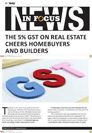 Gst Rate Cut Quote Realty Magazine Akshaya Uncompromise Medium