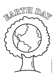 Earth Day Tree Coloring Pages For