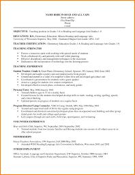 Objective Teaching Resume Objectives Foot Volley Mania Teachers Cv